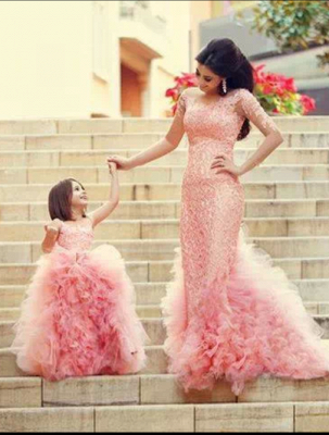 Lovely Pink Sweet Little Flower Girls Dress Puffy Cute  Girls Pageant Dresses_1