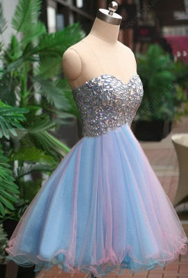 A-Line Crystal Sweetheart  Homecoming Dresses Latest Sleeveless Mini Cocktail Gowns_4
