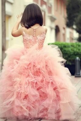 Lovely Pink Sweet Little Flower Girls Dress Puffy Cute  Girls Pageant Dresses_2
