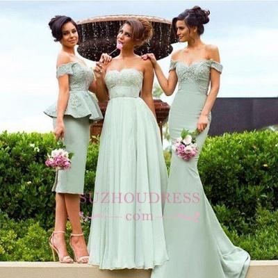 Mermaid Gorgeous Lace Off-the-Shoulder Bridesmaid Dress_1