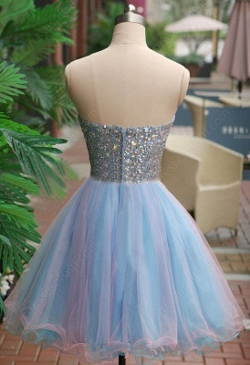 A-Line Crystal Sweetheart  Homecoming Dresses Latest Sleeveless Mini Cocktail Gowns_3