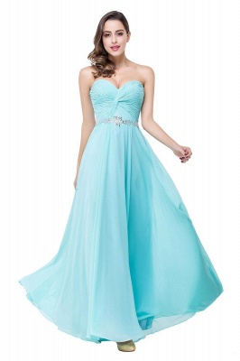 Sweetheart Blue Chiffon Bridesmaid Dresses   Evening Dress_5
