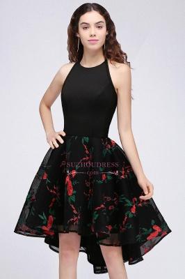 Halter Sleeveless Backless Modern A-line Flowers Homecoming Dress_4