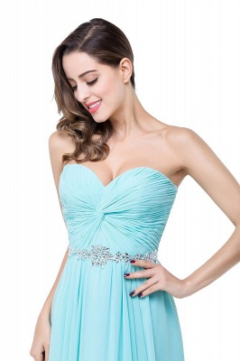 Sweetheart Blue Chiffon Bridesmaid Dresses   Evening Dress_3