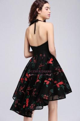 Halter Sleeveless Backless Modern A-line Flowers Homecoming Dress_3