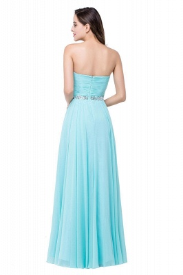 Sweetheart Blue Chiffon Bridesmaid Dresses   Evening Dress_4