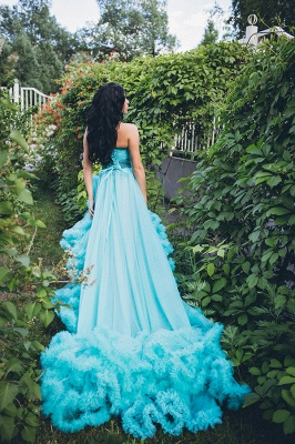 Luxurious Sweetheart Crystal Prom Dress Latest Court Train Lace-Up Formal Occasion Dress_5
