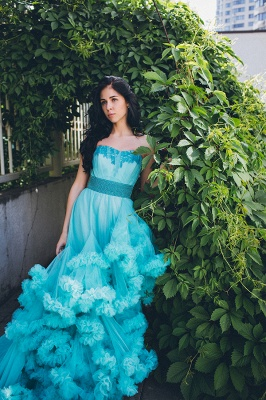 Luxurious Sweetheart Crystal Prom Dress Latest Court Train Lace-Up Formal Occasion Dress_3