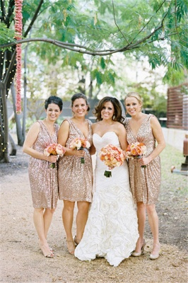 Sparkly Sequined V-neck Bridesmaid Dress Sleeveless  Cocktail Party Dresses_2