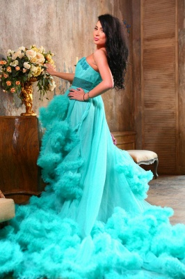Luxurious Sweetheart Crystal Prom Dress Latest Court Train Lace-Up Formal Occasion Dress_6