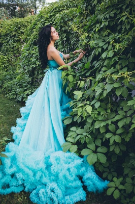 Luxurious Sweetheart Crystal Prom Dress Latest Court Train Lace-Up Formal Occasion Dress_4