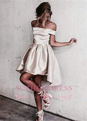 Off-the-shoulder Popular Short Party Dress  Mini  Homecoming Dress SP0211_2