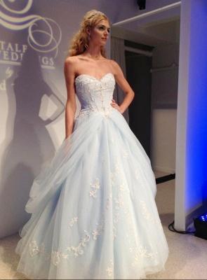 Sky Blue Style  Evening Dresses Sweetheart Rhinestone Elegant Sheath Prom Gowns_2