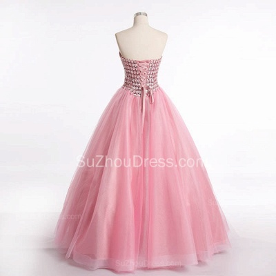 Latest Crystal Sweetheart Ball Gown Special Occassion Dresses Attractive Floor Length Tulle Quinceanera Dress_3
