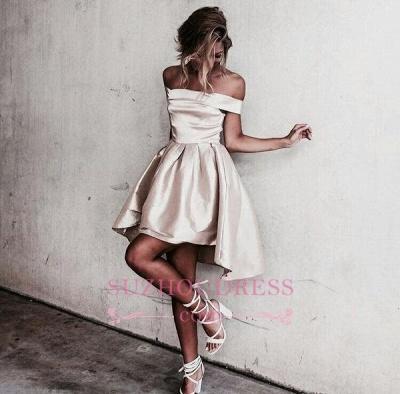 Off-the-shoulder Popular Short Party Dress  Mini  Homecoming Dress SP0211_1