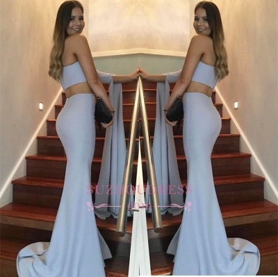 Floor Length Two Pieces Ball Dress One Shoulder Mermaid Stunning  Prom Dress_1