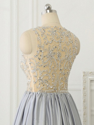 A-line Crystal Sleeveless Evening Dresses New Arrival Floor Length  Prom Gowns_6