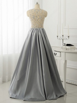 A-line Crystal Sleeveless Evening Dresses New Arrival Floor Length  Prom Gowns_3