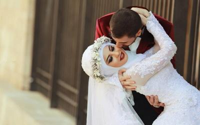 Latest White Lace Long Sleeve Arabic Bridal Dresses Formal Sweep Train Arab Wedding Dress_5