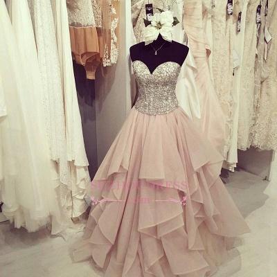 Gorgeous Floor-Length Beadings Sweetheart Ruffles Prom Dress BA4448_1