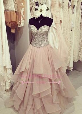 Gorgeous Floor-Length Beadings Sweetheart Ruffles Prom Dress BA4448_3