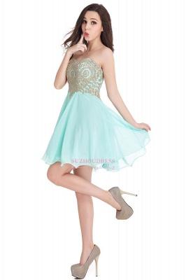 Sweetheart Cheap Mini Short Appliques Homecoming Dresses_10