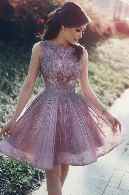 Lace Appliques Open Back Sexy  Homecoming Dresses  Short Hoco Dresses Online_1