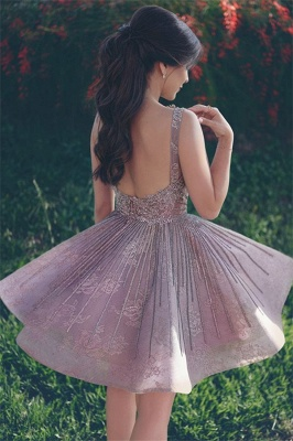 Lace Appliques Open Back Sexy  Homecoming Dresses  Short Hoco Dresses Online_3