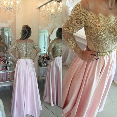 Sparkly Beading Lace Prom Dress Long Sleeve Lace Formal Occasion Dress BA1867_4