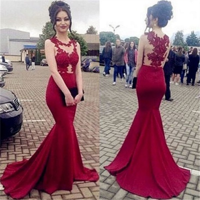 Lace Appliques Sexy Prom Dress | Mermaid Long Evening Gown  BA7934_3