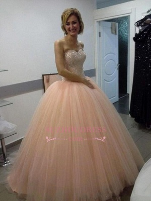 Beautiful Tulle Ball-Gown Sequins Sweetheart Evening Dress_4