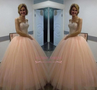Beautiful Tulle Ball-Gown Sequins Sweetheart Evening Dress_1