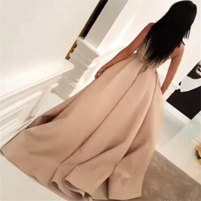 High Neck Floral Lace Evening Gown Sleeveless Overskirt Front Slit  Prom Dress BA6712_3