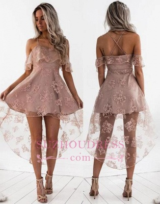 New Arrival Sexy Lace Cute A-line Short Hight-low Homecoming Dress BA7000_1
