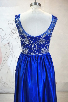 Royal Blue Elegant Evening Dresses with Crystal Beading Charming  Prom Dress_3