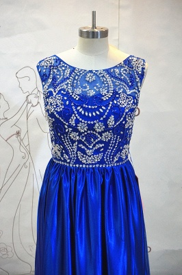Royal Blue Elegant Evening Dresses with Crystal Beading Charming  Prom Dress_2