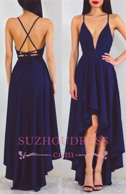 Spaghetti StrapS   Evening Gown Hi-Lo Sleeveless Sexy A-line Formal Dress_3