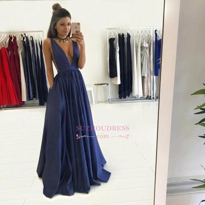 Floor Length Sleeveless Long Evening Gowns Formal  Gorgeous V-Neck Prom Dress BA4950_3