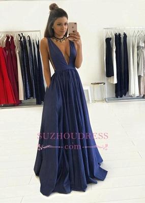 Floor Length Sleeveless Long Evening Gowns Formal  Gorgeous V-Neck Prom Dress BA4950_4