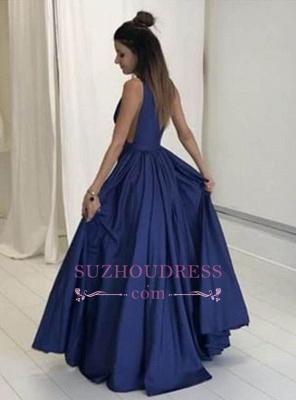 Floor Length Sleeveless Long Evening Gowns Formal  Gorgeous V-Neck Prom Dress BA4950_1