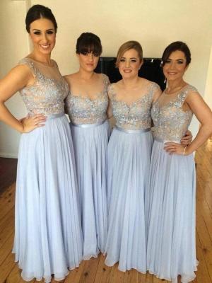 Lace Appliques Chiffon Bridesmaid Dress   Long Dresses for Bridesmaid  BA4050_1