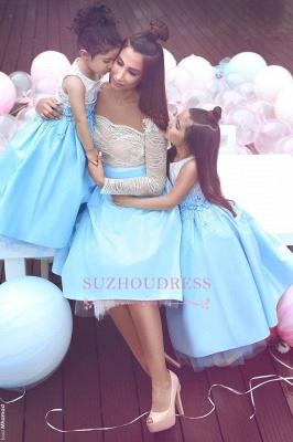 Lace Elegant Sleeveless Appliques  Flower Girl Dresses_3