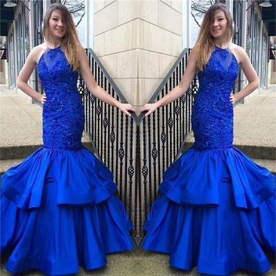 Royal Blue Prom Dresses  | Sleeveless Mermaid Evening Gowns SK0144_3
