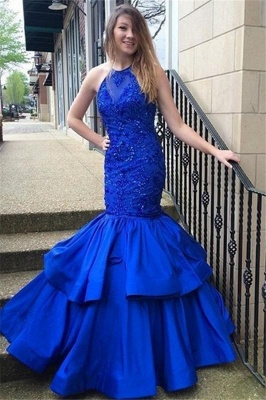 Royal Blue Prom Dresses  | Sleeveless Mermaid Evening Gowns SK0144_1