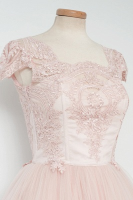 Cute Pink Short Lace Homecoming Dresses Latest Natural Mini Cocktail Gowns_4