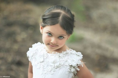 Cute White  Short Sleeve Tulle Flower Girl Dresses Custom Made Applique Special Occasion Dresses for Children MH002_2
