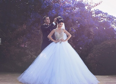 Gorgeous Beading Ball Gown  Bridal Gown New Arrival Sexy Tulle Wedding Dress_5