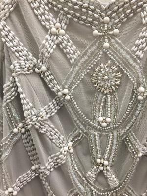 Grey Prom Dresses Beaded Long Evening Dress_5