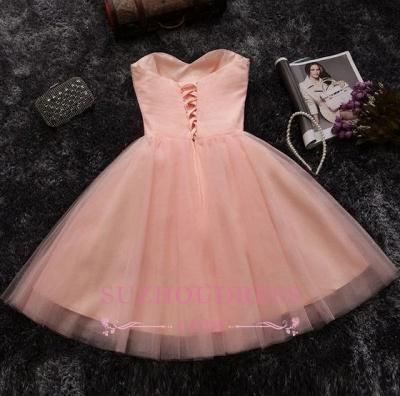 Elegant Crystals Sweetheart-Neck Pink A-line Short Homecoming Dresses BA6909_4