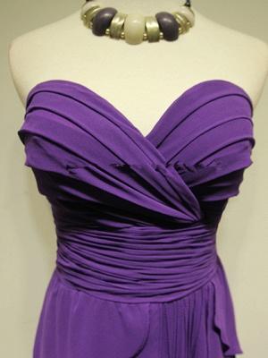 Sweetheart Purple Tieded  Evening Dresses Zipper Sleeveless Glorious Bridesmaid Dresses_4